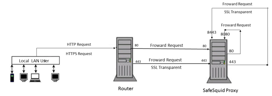 How to configure transparent proxy - Secure Web Gateway