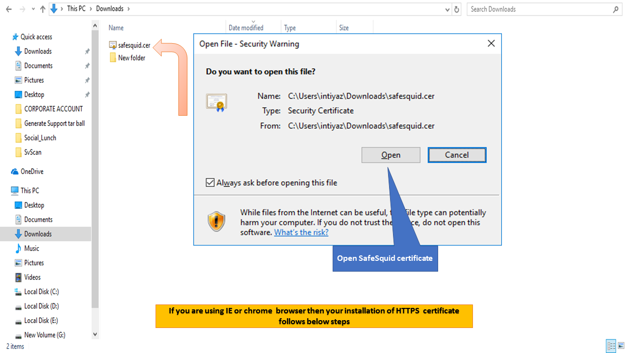 Importing Your Ssl Certificate Into Internet Explorer Or Chrome